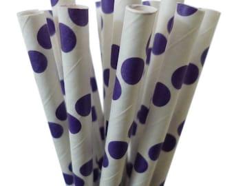Purple Paper Straws, Polka Dot Purple Straws, Cake Pops, Purple Weddings, Birthday Party, Purple baby shower, Diy Flag, Diy Flags