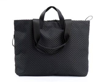 black and white shoulder bag - large tote bag - womens handbags - carry all bag - everyday bag - shopping bag - shopper bag - BFFSIDE