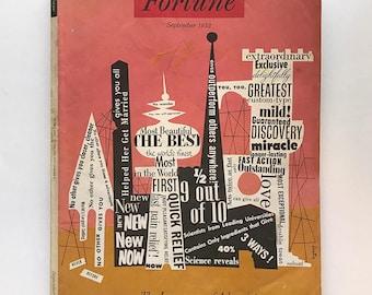 Alvin Lustig FORTUNE MAGAZINE Cover September 1952