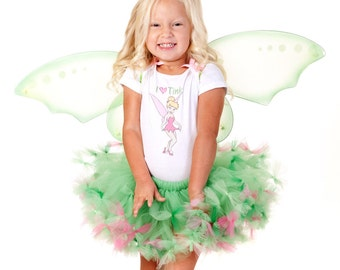 Toddler Tinkerbell Costume Tinkerbell Tutu Dress Set Tinkerbell Halloween Costume Girls Tinkerbell Costume 2t 3t 4t