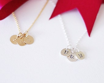 His & Hers Personalized Initial Tag Necklace