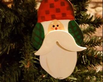 Northwoods Santa Ornament, Woodsy Santa, Christmas Tree Ornaments