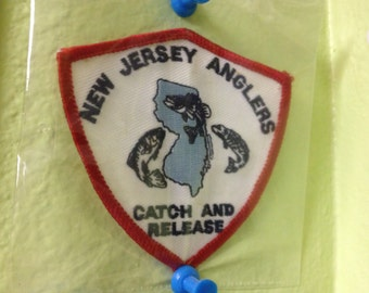 Vintage New Jersey Anglers Catch & Release Fishing Patch