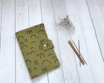 Knitting Needle Case/DPN Holder/Knitting Needle Organizer/Crochet Hook Case-Arches in Jungle-Made To order
