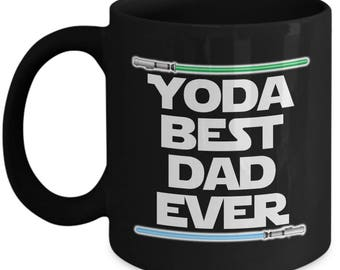 Yoda Best Dad Ever Star Wars Father's Day Dad Daddy Papa Nerd Gift