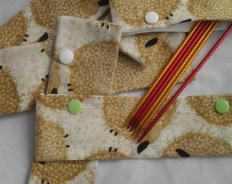 Sheep bag, Zippered sheep bag, Crochet project bag, Sheep in squares bag