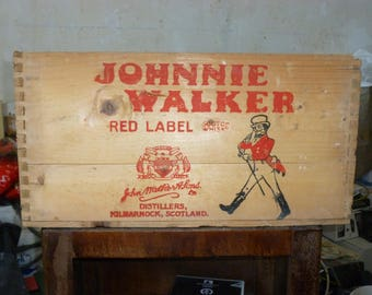 Old advertising wooden crate