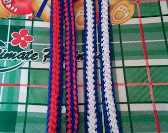 Hawaiian Double Braided Ribbon Lei