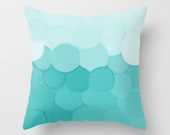 Throw Pillow Cover Teal Turquoise  Modern Home Decor Living room bedroom accessories Cushion Decorative Pillow Cover Euro Sham Cover