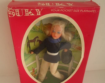 SUKY Horse Rider Doll Your Pocket Size Playmate 1974 Matchbox
