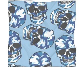Blue Camo Poly Scarf