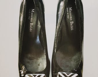Vintage inspired Black Massimo Baldi Shoes