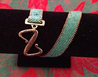 Peyote Double Wrap Bracelet