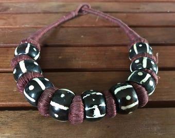 Mud Cloth Design Malian Necklace