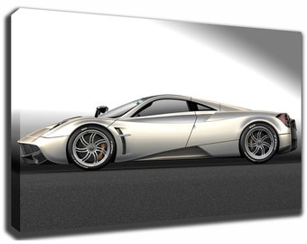 PAGANI HUAYRA Canvas/Poster Wall Art Pin Up HD Gallery Wrap Room Decor Home  Decor