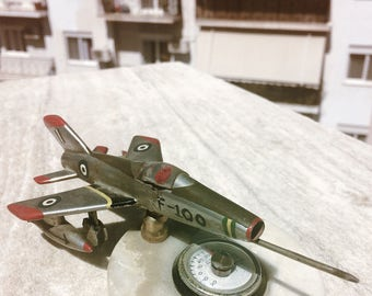 Vintage Aircraft F-100 Military Hand Made