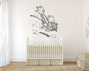 Calvin and Hobbes Riding Wall Decal
