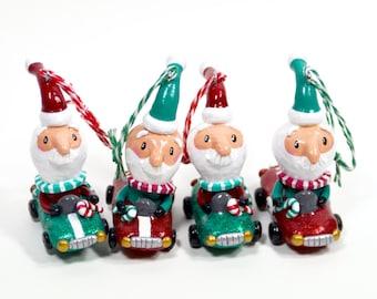 Santa Racer Ornament- Pick Your Favorite