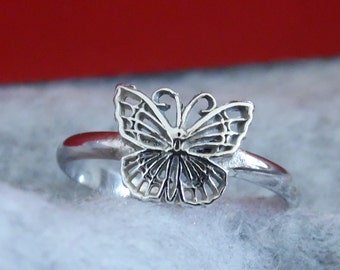 Butterfly Stacking Rings, Stacking Rings, Silver Rings