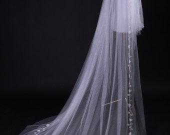 Mantilla Veil, Lace Veil,  Lace Bridal Veil, Bridal Veil, Wedding Veil   Violetta (13110)