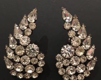 Large rhinestone stud earrings