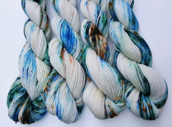 Muddy Waters- 100 Cotton, Hand Dyed, Variegated, Speckled, Hand Painted Yarn
