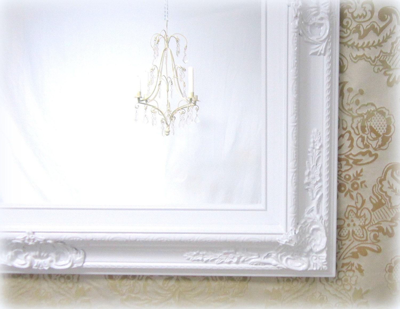 WHITE VANITY MIRROR For Sale Baroque Framed White Framed