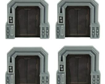 Star Wars Imperial Assault Custom Door Holder Tokens - Set of 4 & Star Wars Imperial Assault Token Box Organizer