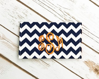 Checkbook Cover - Personalized Checkbook Cover - Monogrammed Checkbook Cover - Custom Check Book Cover - Fabric Checkbook Cover