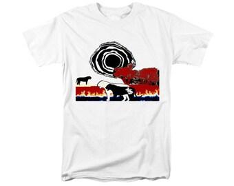 Lioness T-shirt, Africa Wearable Art, Digital Painting, Wildlife Animal, Uni-Sex Fashion, Big Cat Silhouettes, Safari Serengeti, Jungle Cats