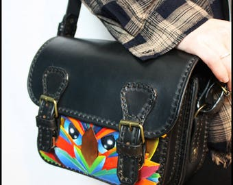 OWL leather satchel
