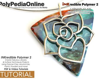 Polymer Clay, PDF Tutorial, Crafting Polymer Clay, Polymer Clay Pattern, Polymer Clay Jewelry, DIY Handmade Bead, Jewelry Tutorial, Ink