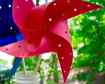18 Star Spinning Pinwheels