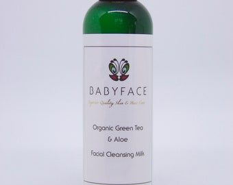 Babyface Organic Green Tea & Aloe Facial Cleansing Milk, 4.4 oz.