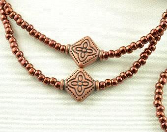Copper Eyeglass Chain - Chain for Glasses Lanyard - Eyeglass Holders Necklaces - Beaded Glasses Chain for Men - Reading Glasses Holder