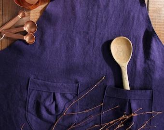 Linen  Blue Cecil Apron