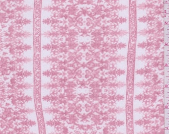 Pink Blush/White Wallpaper Stripe Rayon Crepe, Fabric By The Yard