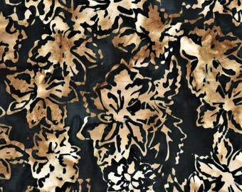 Anthology Batik 6382 Gold Fall Leaves By The Yard