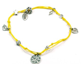 Positive Changes Solomon Seal and lucky Charms Anklet in Yellow