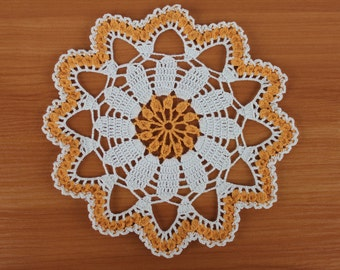 Gift for her Gift ideas Daisy crochet doily Daisy crochet table decor Summer crochet doily Placemats Cotton crochet doily Daisy doilies
