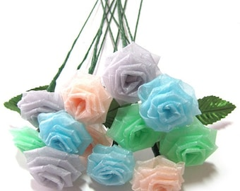 Fairy Dust Rose Bouquet - (6)