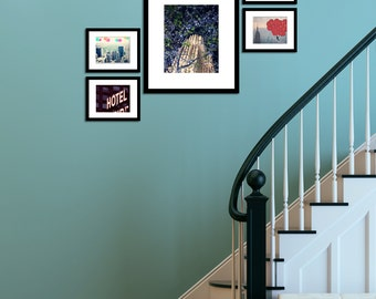 New York Photography - Large Prints - set of 5 photographs - vintage photography - home decor