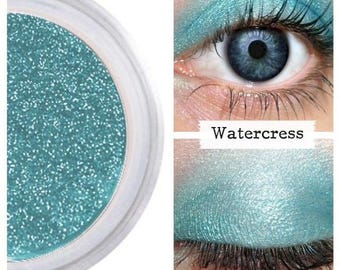 Turquoise Eyeshadow, Mermaid Makeup, Long Lasting, Bright Colorful Eyes, Eyeliner Eye Liner, No Smudge, Sensitive Eyes, Make Up, WATERCRESS