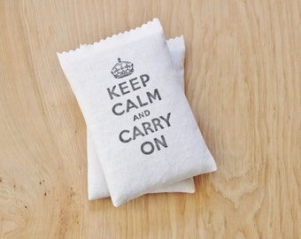 Keep Calm and Carry On Lavender Sachet - Gift for Co Workers - Desk Decor