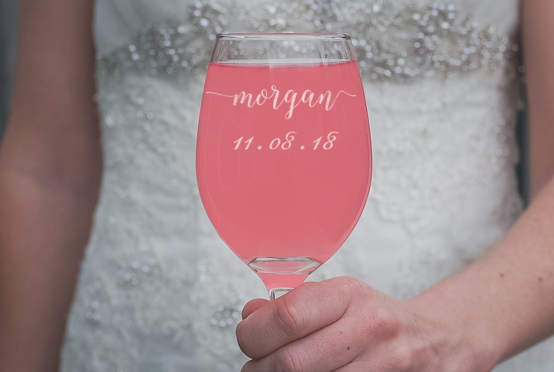 Bridesmaid Wine Glass Custom Wine Glass Bridesmaid Gift