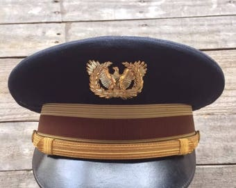 Flight Ace Army Officers Visor Hat
