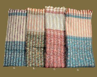 Pastel Renaissance Pattern Shawls w/ quality wool