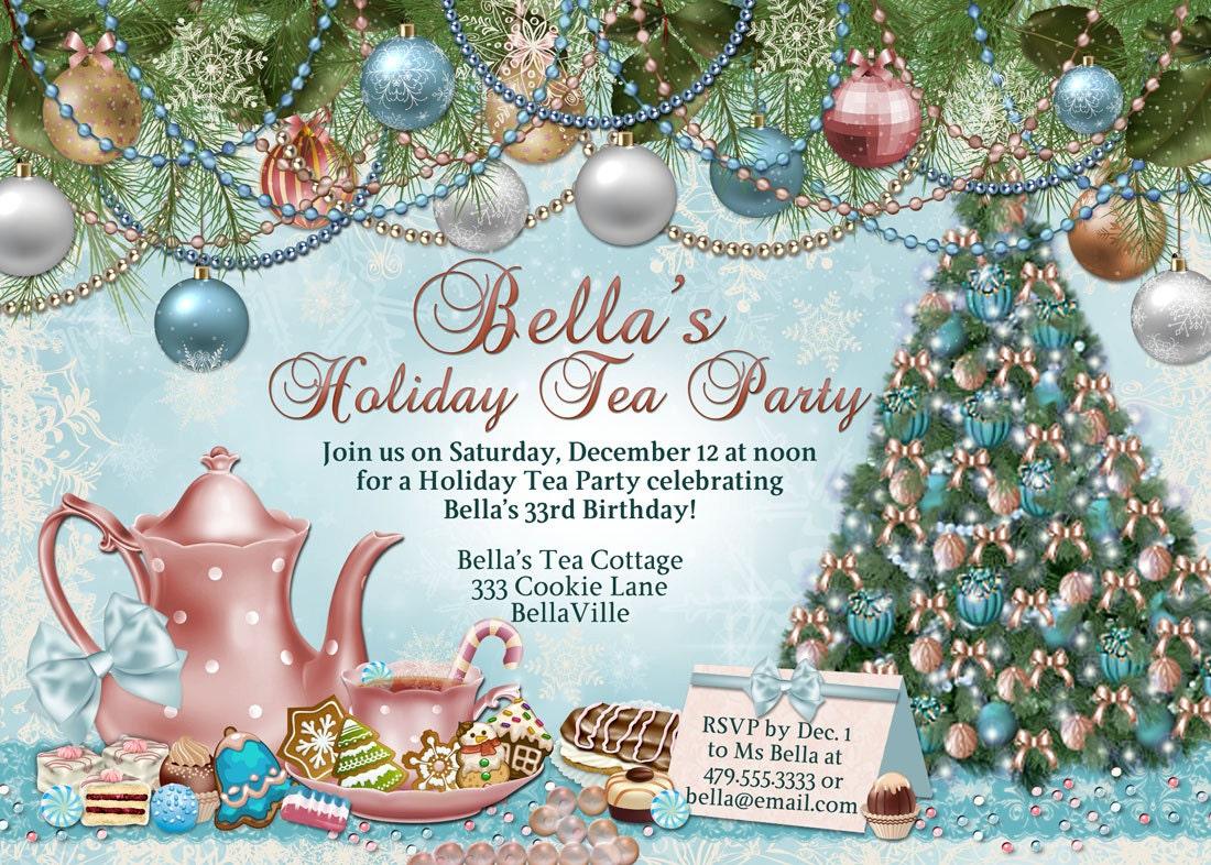 Nice Holiday Tea Party Invitations Photos - Invitation Card Ideas ...