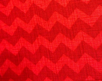 New Timeless Treasures Chevron Red fabric by the yard
