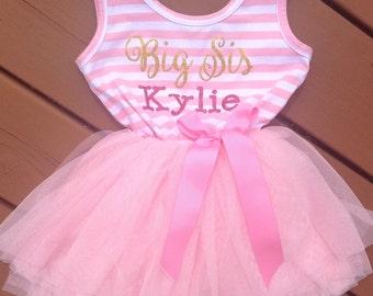 Personalized Big Sister Dress